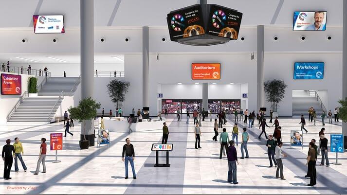 BSAVA Congress 2021 lobby. Powered by vFairs