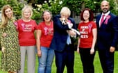 FIGURE (4) Marc and representatives of Friends of Animals Wales introduce rescue dog Dilyn to the Prime Minister and his fiancée Carrie Symonds, in the garden of Number 10 thumbnail