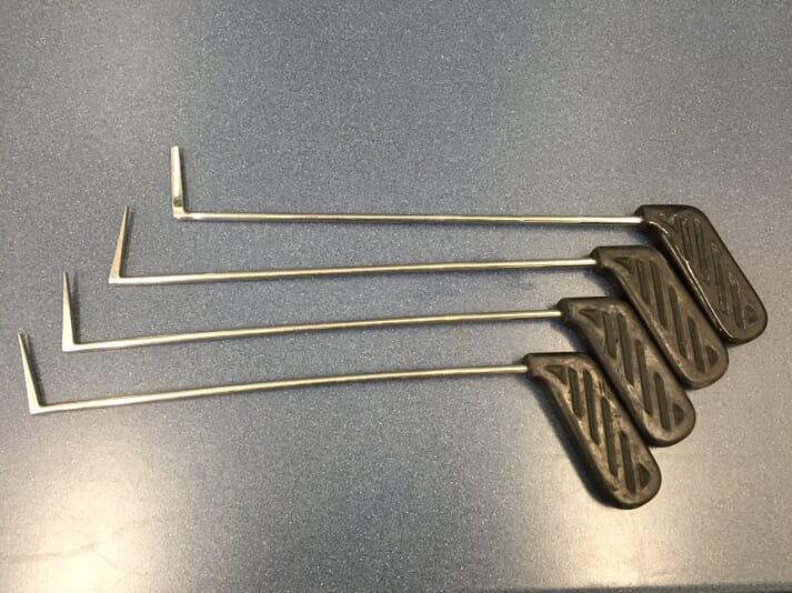 FIGURE (9) Series of periodontal elevators