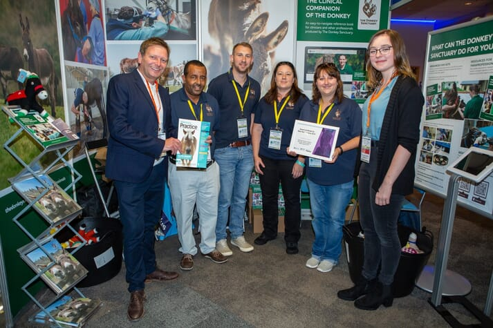 The Donkey Sanctuary won the Veterinary Practice Best Shell Scheme Stand Award
