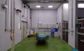 The clinic has large equine preparation rooms thumbnail