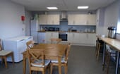 A large and comfortable staff room is available on-site, as well as three bedrooms for students thumbnail
