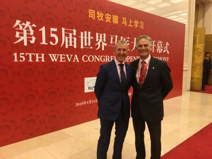 Jonathan Pycock and Chris Riggs at the WEVA Conference opening ceremony