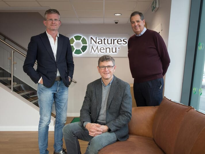 Natures Menu is led by three company directors. Left to right: Peter Roy (Business Development Director), Craig Taylor (Managing Director) and James Langan (Commercial Director)