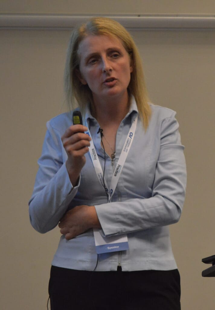 Sue Quinney answered questions from OV Conference delegates on the wider integration of non-veterinary Approved Tuberculin Testers