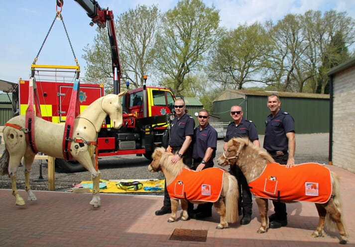 FIGURE 1 The West Sussex Fire Brigade were in attendance to demonstrate how they rescue horses from mud and water